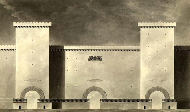 Monumental city gate 001